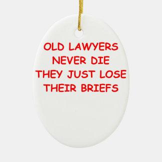 lawyer joke ceramic ornament