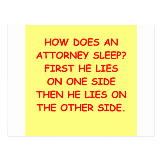 lawyer joke gifts and t-shirts post card