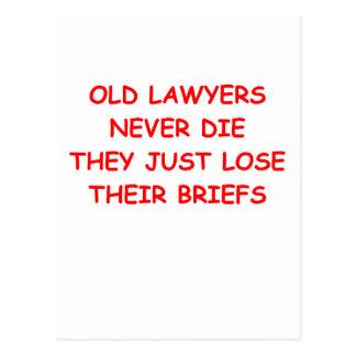 lawyer joke post card