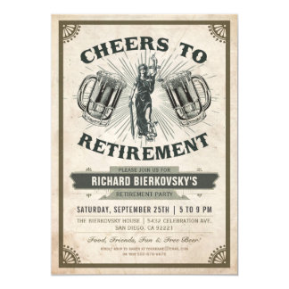 Lawyer/Judge Retirement Party Invitation - Cheers