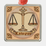 Lawyer Justice Scales Silver-Colored Square Decoration