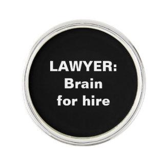 Lawyer Lapel Pin: Brain for hire Lapel Pin