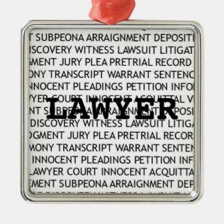 Lawyer Legal Terminology Christmas Metal Ornament