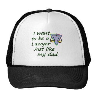 Lawyer like dad cap