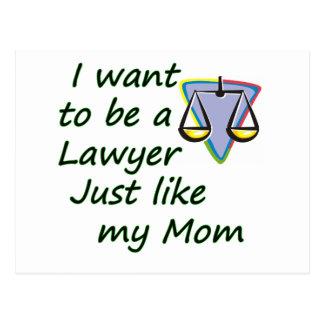 Lawyer like mom postcard