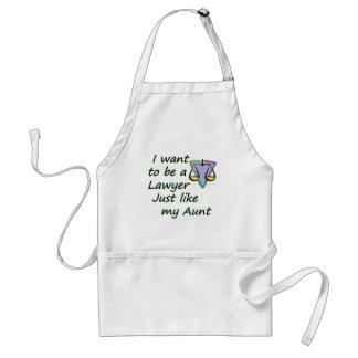 Lawyer like my aunt standard apron