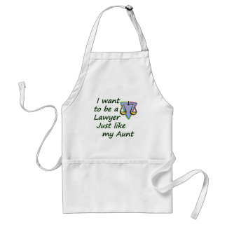 Lawyer like my aunt standard apron
