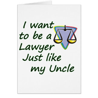 Lawyer like uncle card