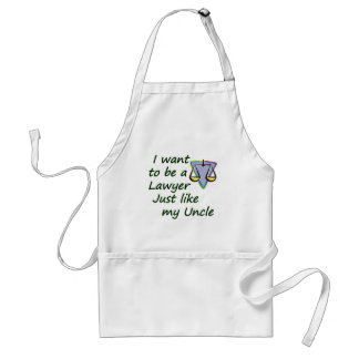 Lawyer like uncle standard apron