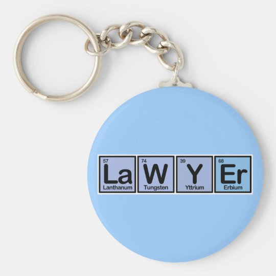 Lawyer made of Elements Basic Round Button Key Ring