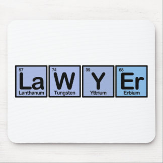 Lawyer made of Elements Mouse Pad