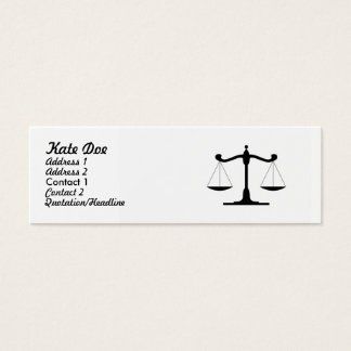 Lawyer Mini Business Card