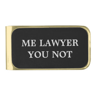 Lawyer Money Clip with humor