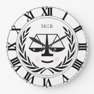 Lawyer Monogram Large Clock
