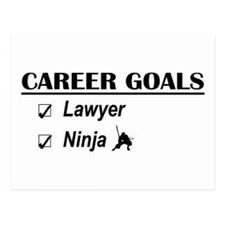 Lawyer Ninja Career Goals Postcard