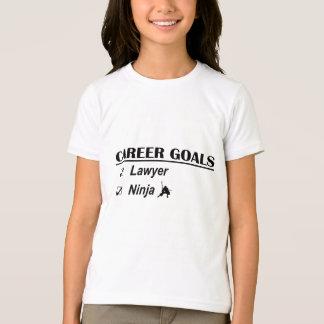 Lawyer Ninja Career Goals Tshirt