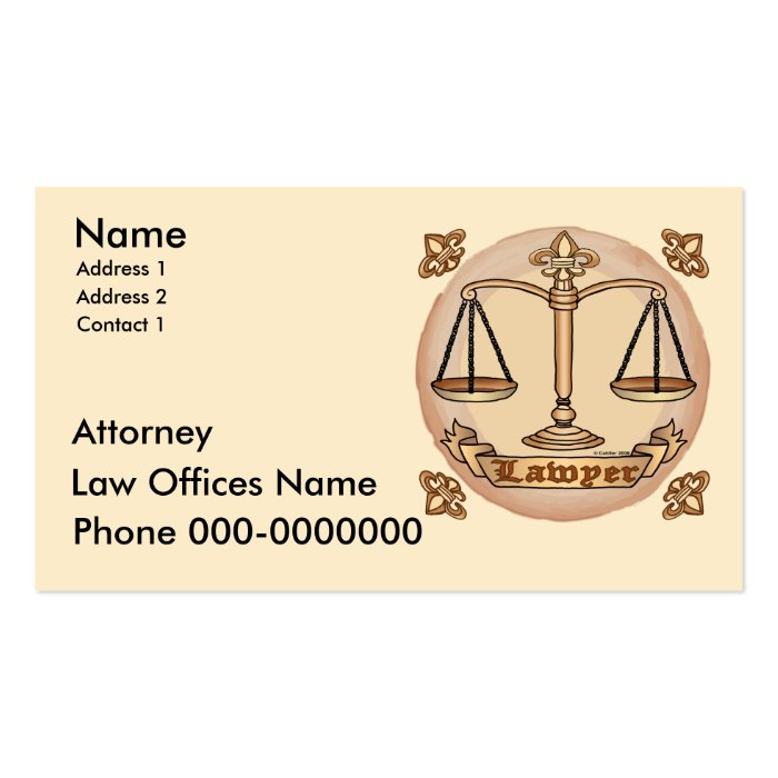 Lawyer Pack Of Standard Business Cards