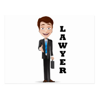 """Lawyer"" Postcard"