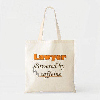 Lawyer Powered by caffeine Budget Tote Bag