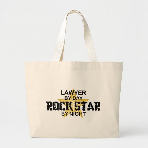 Lawyer Rock Star by Night Jumbo Tote Bag