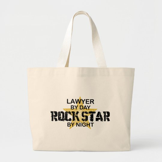 Lawyer Rock Star by Night Large Tote Bag