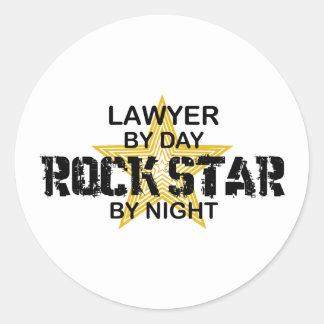 Lawyer Rock Star by Night Round Sticker