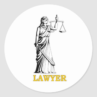 LAWYER ROUND STICKER
