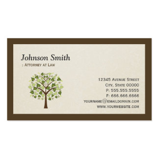 Lawyer - Simple Elegant Tree of Life Symbol Pack Of Standard Business Cards