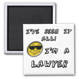 Lawyer Square Magnet