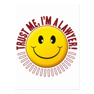Lawyer Trust Smiley Postcard