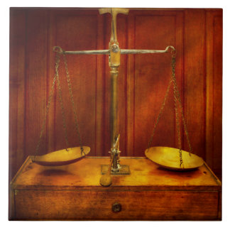 Lawyer - Unbalanced scale of justice Tile