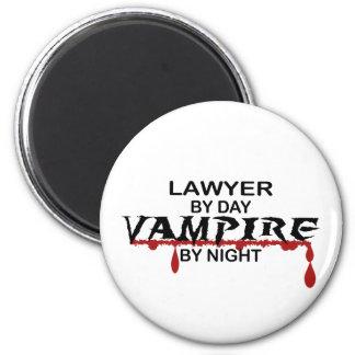 Lawyer Vampire by Night 6 Cm Round Magnet