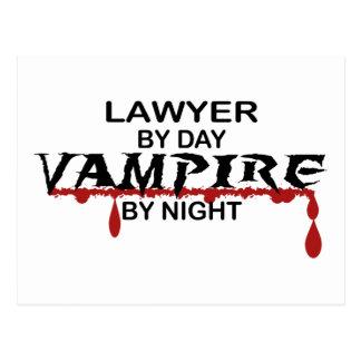 Lawyer Vampire by Night Postcard