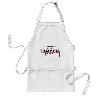 Lawyer Vampire by Night Standard Apron
