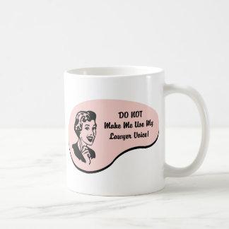 Lawyer Voice Basic White Mug