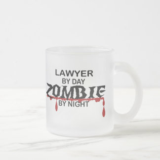 Lawyer Zombie Frosted Glass Mug