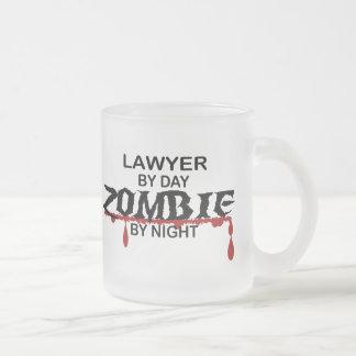 Lawyer Zombie Frosted Glass Mug