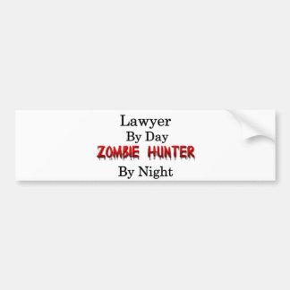 Lawyer/Zombie Hunter Bumper Sticker
