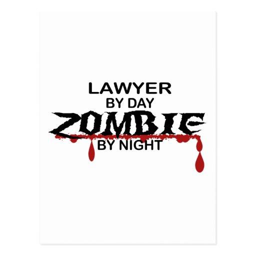 Lawyer Zombie Post Card