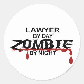 Lawyer Zombie Round Sticker