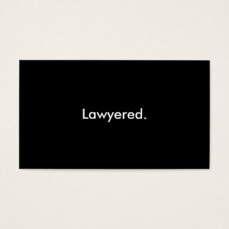Lawyered humor customizable business cards