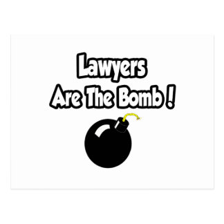 Lawyers Are The Bomb! Postcard
