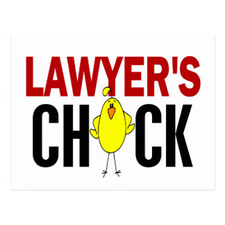 Lawyer's Chick Postcard
