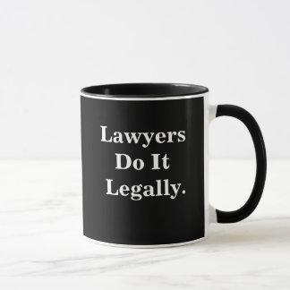 Lawyers Do It Legally Funny Cheeky Lawyer Slogan Mug
