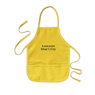 Lawyers Don't Cry Kids Apron