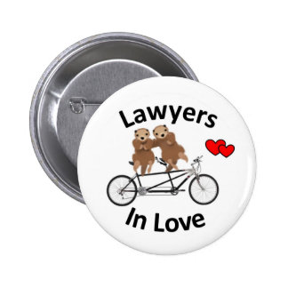 Lawyers in Love - Otters 6 Cm Round Badge