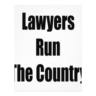 Lawyers Run The Country Custom Flyer