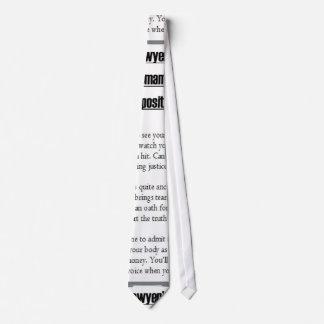 Lawyer's Text Tie