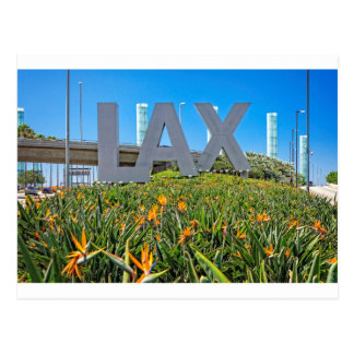 LAX Airport Sign Postcard