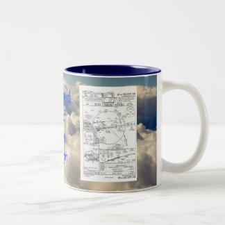 LAX ILS 24R, ILS depiction, ... Two-Tone Coffee Mug